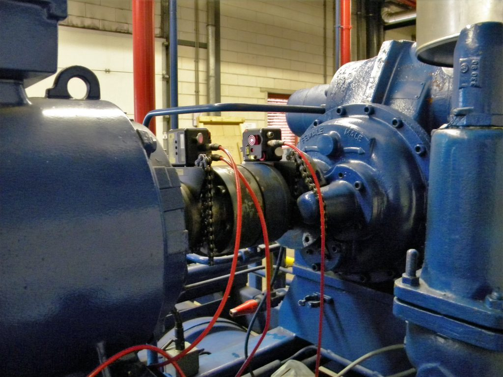Shaft laser alignment