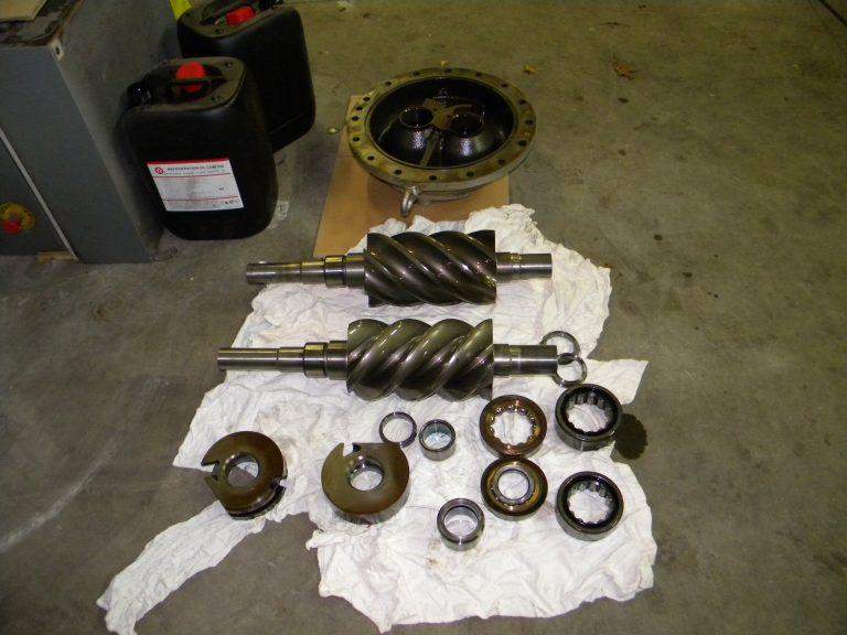 Female and male rotors Sabroe